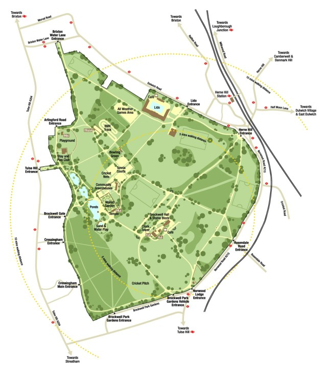 Brockwell Park map