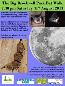 The Big Brockwell Park Bat Walk